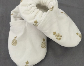 Gold Pineapple Baby Shoes