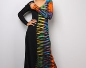 Maxi Dress / Tie Dye Dress / Long Sleeved Dress : Funky Collection