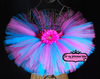 Cotton Candy Tutu, turquoise and pink tutu, candy tutu, candyland  tutu, newborn tutu, birthday tutu, tutu, candy tutu, baby tutu, tutu