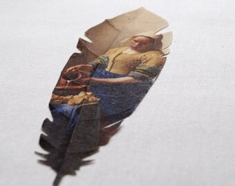 Fabric Feather The Milkmaid by Johannes Vermeer