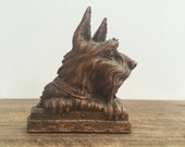 Vintage syroco wood book holder / bookend /  door stopper / paper weight