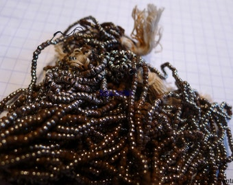 11/0 antique french steel cut beads