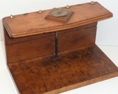 Wooden Invoice Accounts Payable Holder Arts and Crafts Accounting Storekeeping Memorabilia Antique 1800s