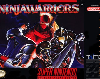 Ninja Warriors reproduction poster print