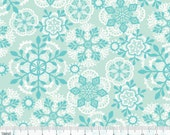 Vintage Noel - Crochet Snowflakes Blue from Blend Fabrics