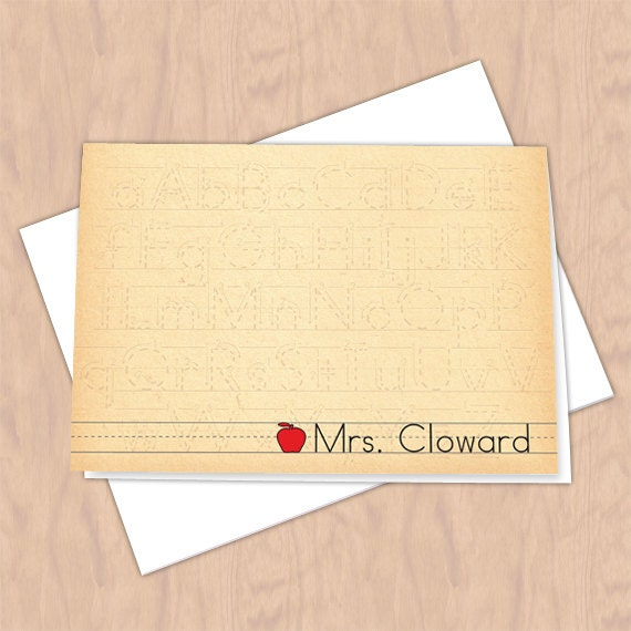 personalized notecards, thank you cards, teacher thank you cards, graduation thank you cards, 4x6 notecards, teacher appreciation, NC118