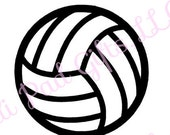 Volleyball - Cut File - Instant Download - SVG Vector JPG for Cameo Silhouette Studio Software & other Cutter Machines