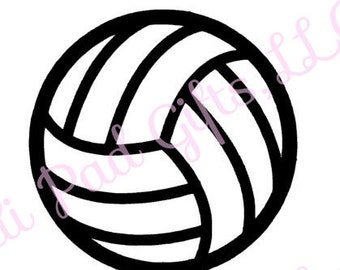 Volleyball - Cut File - Instant Download - SVG and DXF for Cameo Silhouette Studio Software & other Cutter Machines