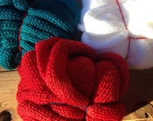 The Bee's Knees!!! Double Loop Soft & Slinky Knotty Knitted Infinity Scarves! 3 glorious scarves, 3 festive colors!!!!!