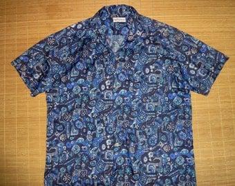 Mens Vintage 70s Duke Kahanamoku Hawaiian Aloha Shirt - XL -  The Hana Shirt Co