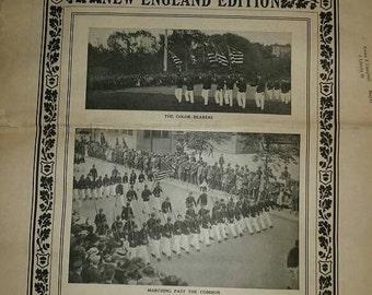 Valentine SALE Youth's Companion , 1910 , NewsPaper , New England  , Boston high school cadets