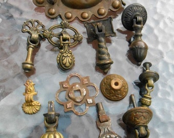Antique Victorian Drawer Pull Lot Upcycle