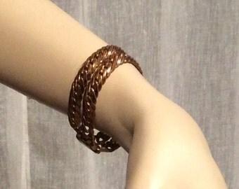 Vintage Coro Pegasus DES PAT PEND Gold Toned  Double Chain Braclet, Vintage Gold Tone Bracelet, Vintage Jewelry