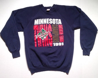 Vintage 1991 Minnesota Twins sweatshirt, fits like a large
