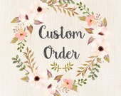 """Custom order for Courtney. 10 lattice design clothespins. 2- 5'2"""" wire and hooks."""