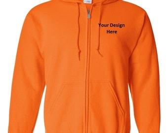 Men's Custom Embroidered Hooded Sweatshirt--More Colors