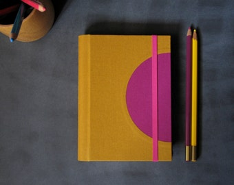 2016 Weekly Diary - Small Custom Color Semicircle Weekly Planner - A6 // 4 3/8 x 6 1/4 inches size