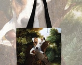 Parson Russell Terrier / Jack Russell Terrier Art Tote Bag NEW Collection by Nobility Dogs