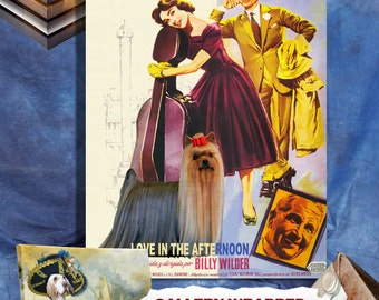 Yorkshire Terrier Vintage Canvas Print  - Love in the Afternoon Movie Poster by Nobility Dogs