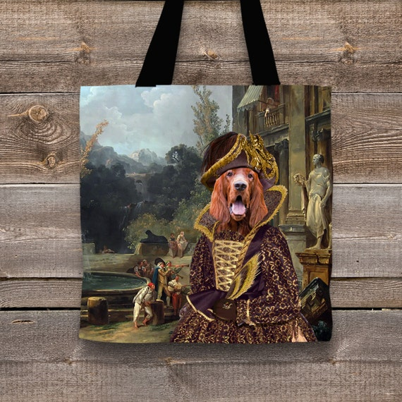 Dog Tote Bag - Irish Setter Tote Bag - Irish Setter Art -  - Irish Setter Gifts - Irish Setter