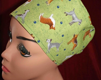 SALE....Dogs Surgical Cap (biker/chemo/surgical)