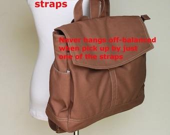 NEW YEAR SALE 30% - Hugo Unisex Backpack (Water Resistant) in Cinnamon Laptop / Shoulder Bag / Satchel / Rucksack / Messenger Bag / Travel B
