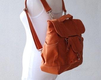 NEW YEAR SALE 30% - Pico2 Backpack in Pumpkin (Water Resistant) Unisex / Laptop / Shoulder Bag / Satchel / Rucksack / Messenger Bag / Diaper