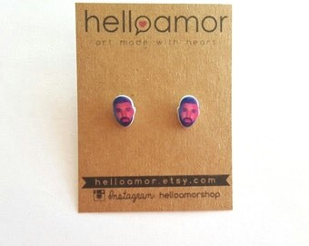 Drake Earring Studs Drizzy Drake Earring Posts Jewelry Singer Rapper Music Accessories Silver Plated Earring Posts