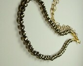 Pyrite gold chain necklace