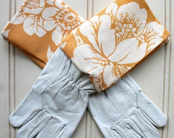 "Washable Leather Gardening Glove - in ""Mellow Yellow"""