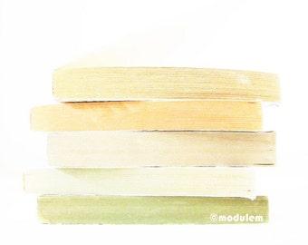 An Afternoon in October - fine art print, modern, Scandinavian style, faded, soft orange, jade green, mint, 8x8, 8x10, A4