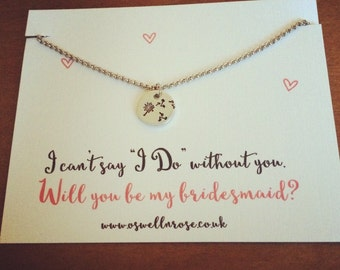 I cant say 'I Do' without you bridesmaid necklace