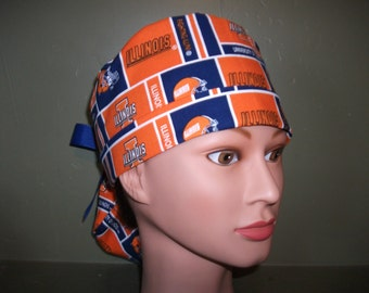 Ponytail scrub cap University of Illinois