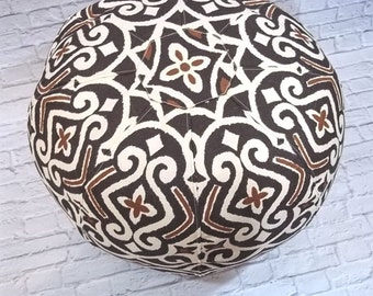 Brown and Rust on Cream Background, Pouf Shell
