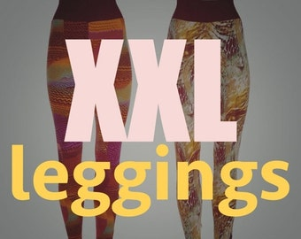 SALE Plus size leggings, XXL leggings / pants / tights, womens plus size fashion