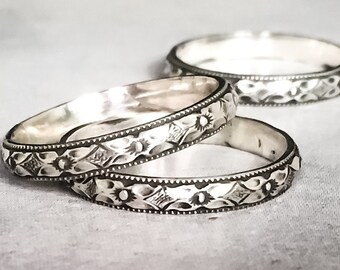 Floral Band // Sterling Silver