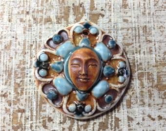 Porcelain Face Pendant