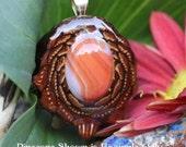 Carnelian Third Eye Pinecone Pendant