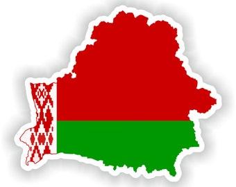 Belarus Map Flag Silhouette Sticker for Laptop Book Fridge Guitar Motorcycle Helmet ToolBox Door PC Boat