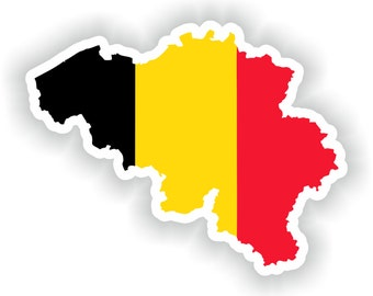 Belgium Map Flag Silhouette Sticker for Laptop Book Fridge Guitar Motorcycle Helmet ToolBox Door PC Boat