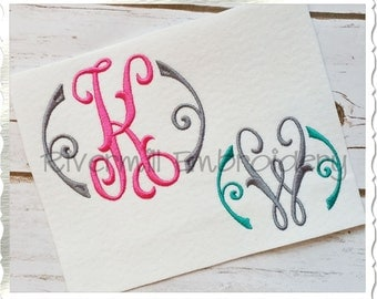 Arabesque Monogram Machine Embroidery Font Alphabet - 3 Sizes