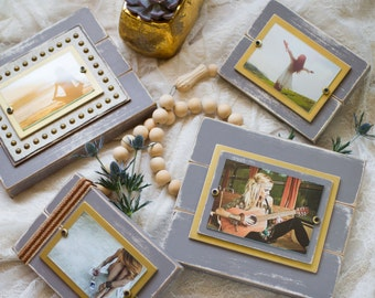 Picture Frame Set | Frame Set | Gray Distressed Frames