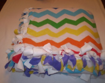 Chevron Stripe Fleece Blanket, Twin size, Warm, Winter Throw