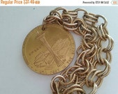 NOW ON SALE Vintage Seattle World's Fair Bracelet 1960's 1962 Collectible Chunky Charm Bracelet Historical Collectible