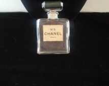 Now On Sale Chanel Perfume Bottle * Vintage Collectible Glass Bottle * No 5 Chanel Paris