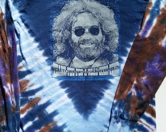 Jerry Garcia LONG sleeve tie-dye shirt - Grateful Dead, Furthur, hippie, Phish, DSO, Dead and Company, Fare Thee Well