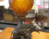 Vintage Elephant Lamp/ Elephants/ Pachyderms/mantle lamps, accent lamp