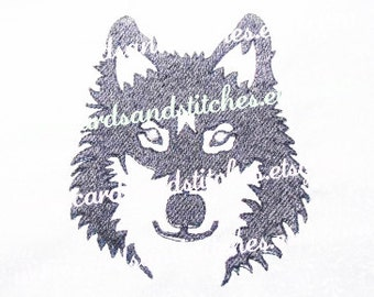 Wolf Embroidery - Machine Embroidery Design - Embroidery - Instant Download - Two Hoop Sizes 4x4 and 5x7 - Seven formats included