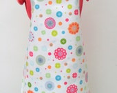 Adult PVC Apron Button and Spot Design, Oilcloth Apron, Waterproof Apron