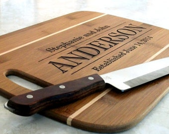 Personalized Cutting Board Wedding Cutting Board Wedding Gift Shower Gift Established Date Chopping Block